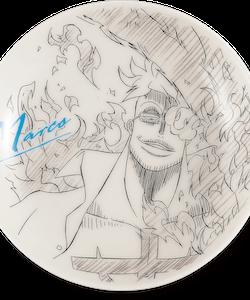 One Piece Decorative Porcelain Plate - Ichibansho - Ex Devils (C)