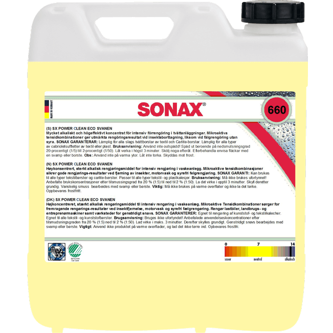 SONAX ECO Power Clean Konc, 10/25 L  Svanen