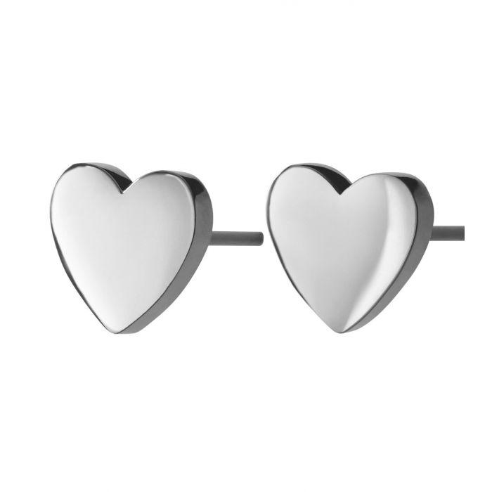 Örhänge Pure Heart studs steel