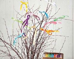 Sidenband till påskriset i 12 färger