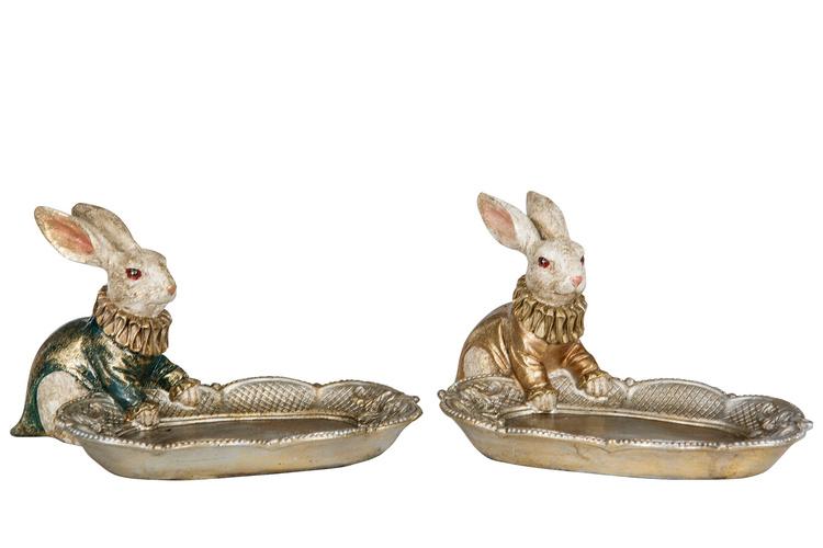 Hare med fat grön/guld