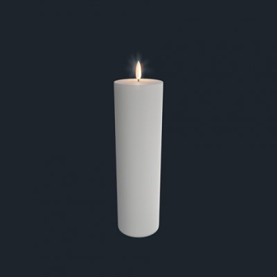 Unika batteriljus från  Uyuni 7,8*23,1 cm vit