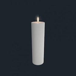 Unika batteriljus från  Uyuni 7*25 cm vit