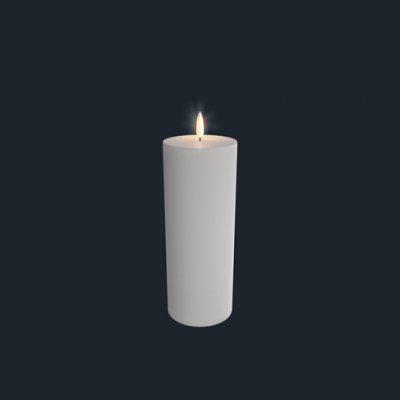 Unika batteriljus  från Uyuni 7,8*23 cm vit