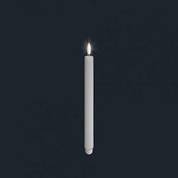 Unikt batteriljus från Uyuni 2,3*23 cm vit