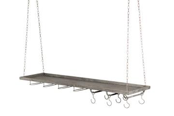 Hylla för häng med krokar