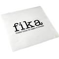 "Servetter ""Make time FIKA"" vit/svart text, 20-p"