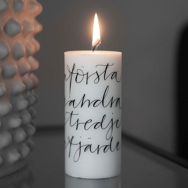 """Adventsljus """"Första..."""" Vio-ljus"""