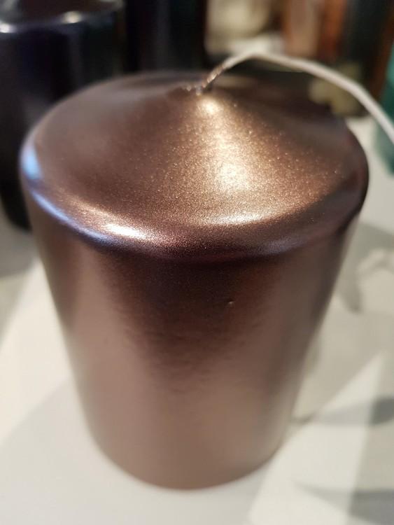 Blockljus klarlack brons/koppar