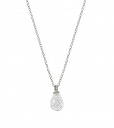 Drop  mini necklace cz steel