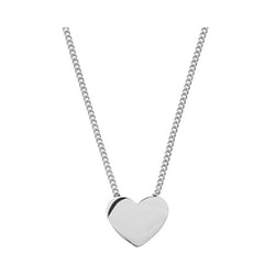 Edblad Halsband hjärta stål