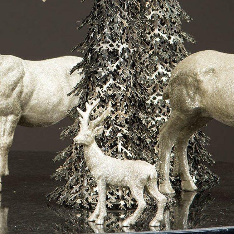 Hjort champangeglitter A lot Decoration