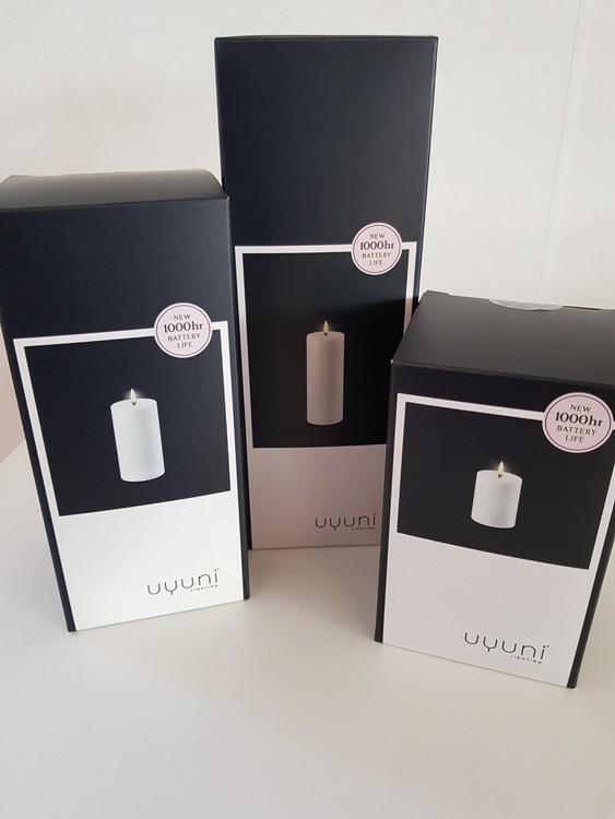Unika batteriljus från Uyuni 7.8*10,10 cm vit