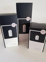 Unika batteriljus  från Uyuni 7,8*18 cm vit