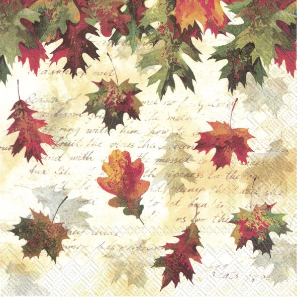 IHR servett fallande löv