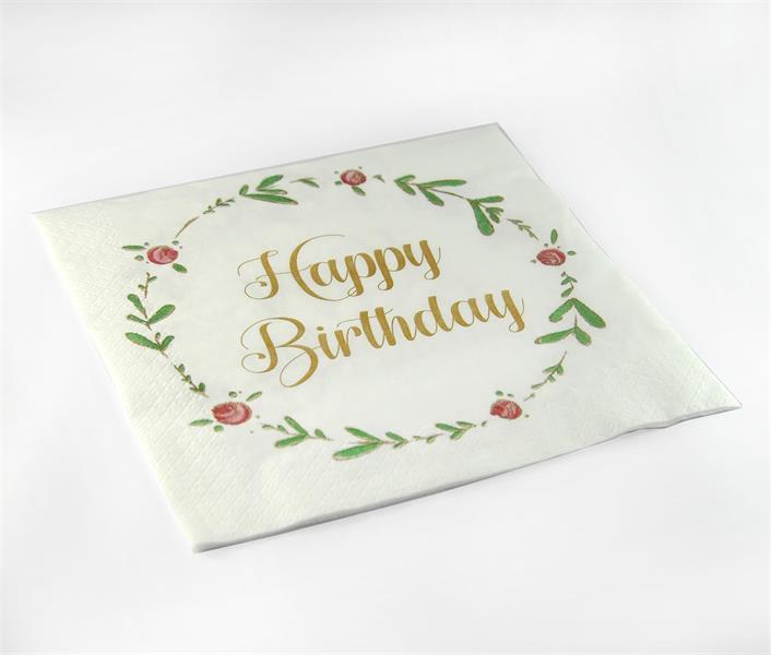 Happy Birthday servett