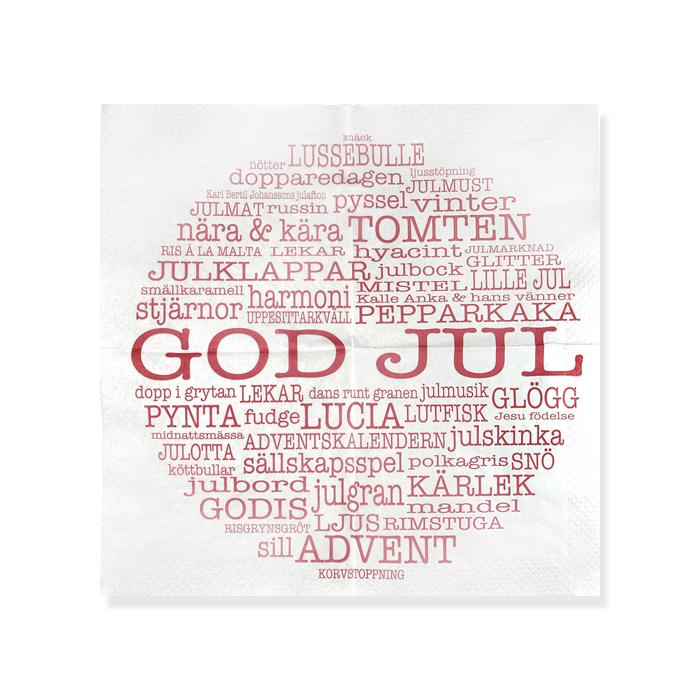 """Bricka """"God Jul"""" Mellow design"""