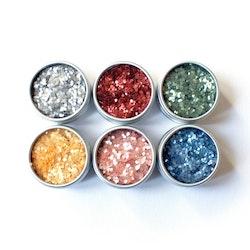 MyPureGlitter ALL COLORS (6 x 3,5g) Bio-Glitter® (Super Chunky)