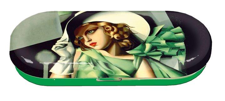 Glasögonfodral, Ung dam med handskar, Tamara de Lempicka,