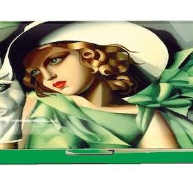 Glasögonetui, Ung dam med handskar, Tamara de Lempicka,