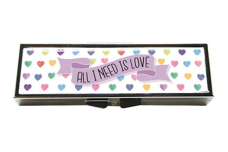 7-dagars pillerask med spegel, SOS, Love