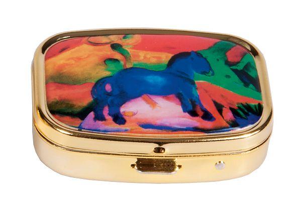 Pillerask med spegel, Blå häst, Franz Marc