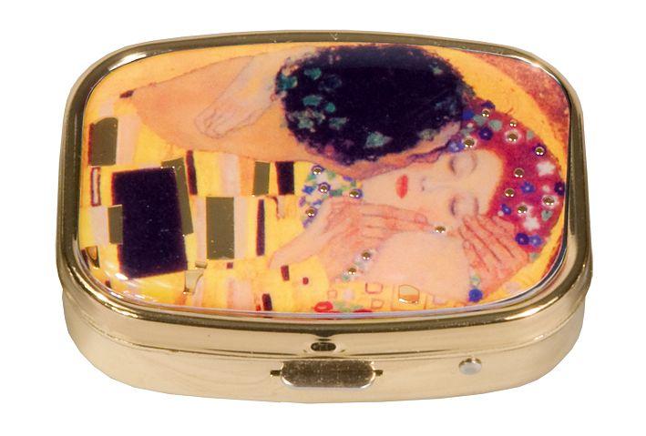 Pillerask med spegel, Kyssen, Gustav Klimt