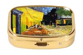 Pillerask med spegel, Nattcafé, Vincent van Gogh