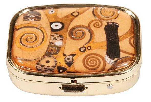 Pillerask med spegel, Livsträd, Gustav Klimt