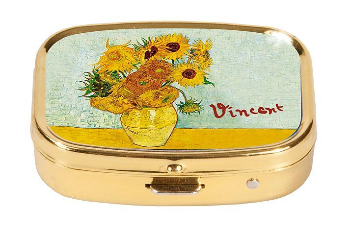 Pillerask med spegel, Solrosor, Vincent van Gogh
