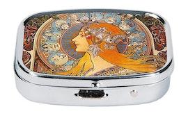 Pillerask med spegel, Zodiak, Art Nouveau