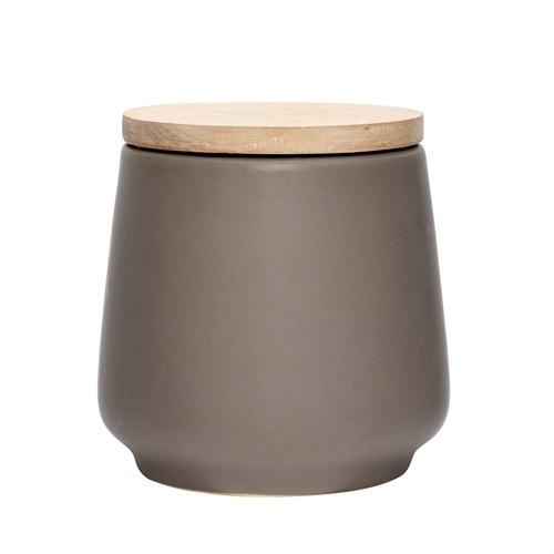 Alldeles fantastisk gråbrun keramikburk