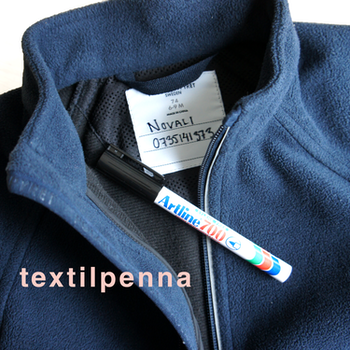 Textilpenna - svart