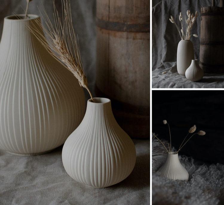 EKENÄS, liten beige keramikvas