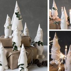 BENGT, liten vit keramiktomte