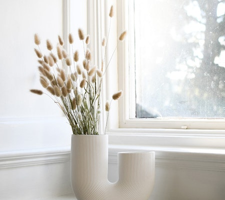 STRÅVALLA, keramikvas vit