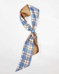 Checked Twilly Scarf S