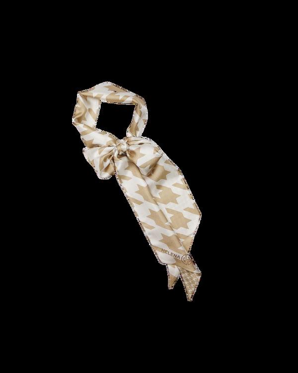 HELENA SAND Dogtooth twilly scarf Hundtand scarf