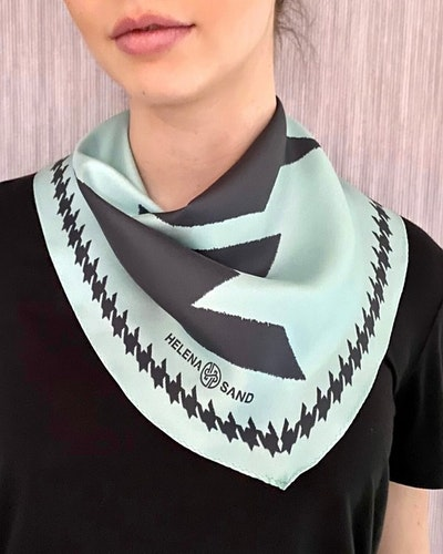 Diamond scarf SEA POOL BLUE