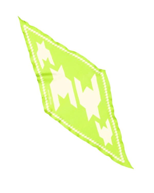 HELENA SAND Diamond shaped scarf  100% silk 100% light 100% attitude in Lime color