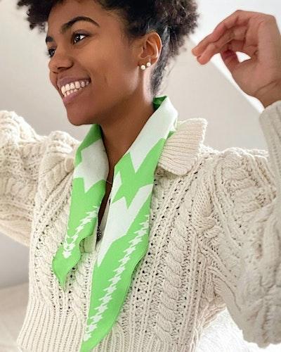 Diamond scarf PARADISE GREEN