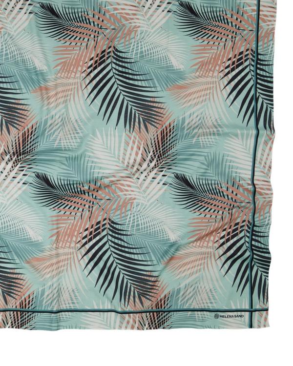 Palm leaf Sarong AQUA
