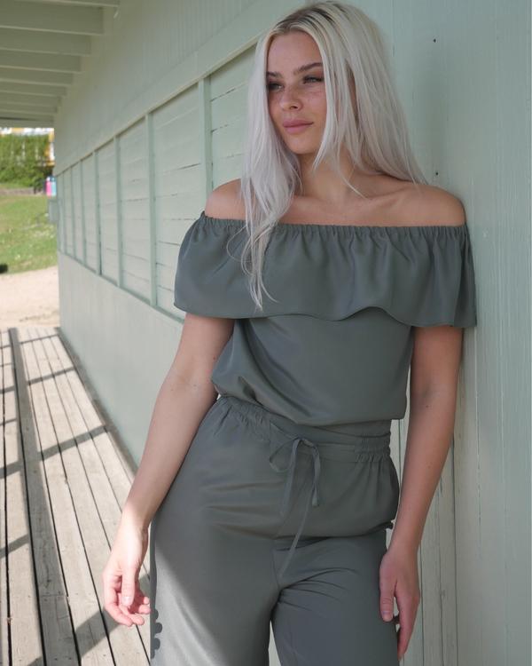 Mila top Pine green
