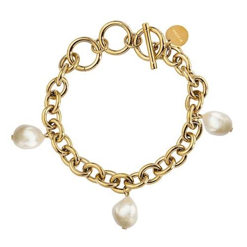 Palma Pearl Bracelet Gold