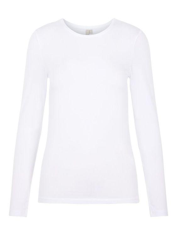 Långärmad T-shirt Vit
