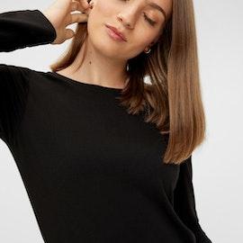Långärmad T-shirt Svart