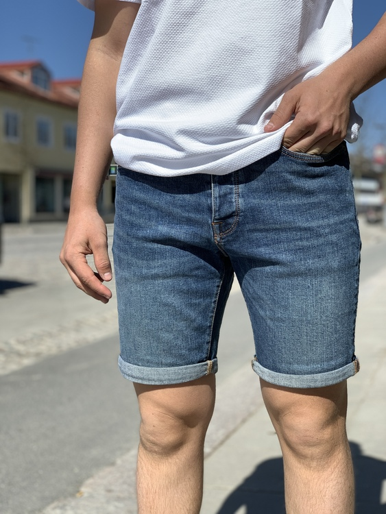 Jeansshorts Medium Blue Denim