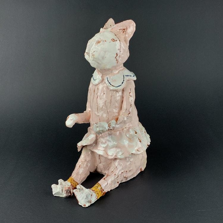 Kattskulptur av Marika Beutler