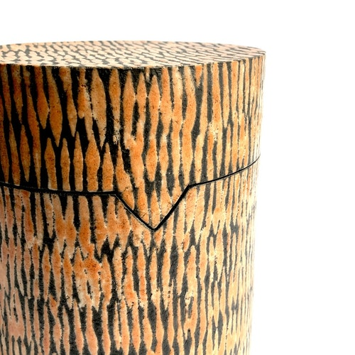 Raku-fired jar with lid by Lisbeth Forsberg