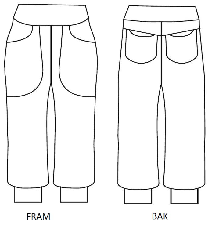 Pocket pants storlek 56-74